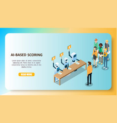 ai-based scoring model concept isometric vector image