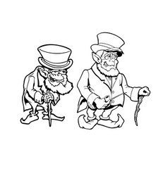 america old man cartoon character vector image