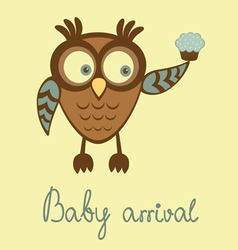 baby arrival owl vector image vector image