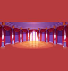 Ballroom interior in medieval royal castle vector