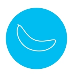 Banana line icon vector image