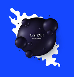 Black spheres on a bright background abstract vector