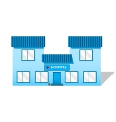 Building hospital vector image