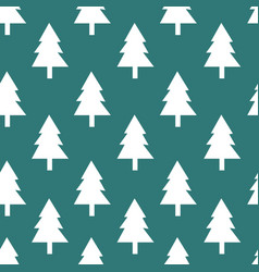 Christmas tree seamless pattern background vector