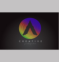 circle rainbow1 vector image