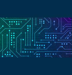 Circuit board high computer technology blue color vector