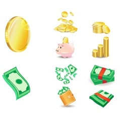 Coin and Money vector