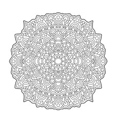 coloring book page with abstract round pattern vector image