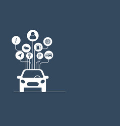 Connected car concept vector