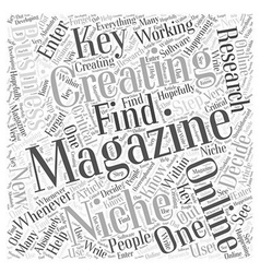 Creating online business magazines Word Cloud vector image