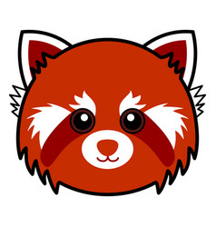 Cute red panda cute animal faces vector