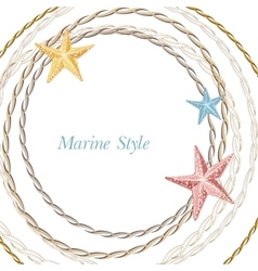 Decorative sea frame with starfishes Can be used vector image