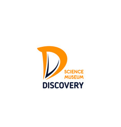 discovery science museum letter d icon vector image