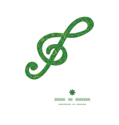 Ecology symbols g clef musical silhouette pattern vector