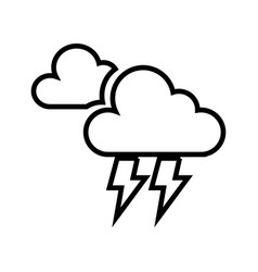 electric storm weather isolated icon vector image vector image