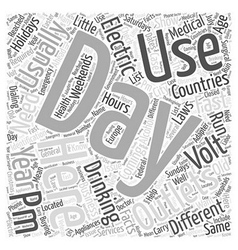 Fast facts for coming into the us word cloud vector