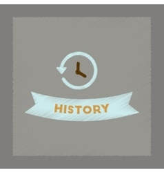 Flat shading style icon history lesson vector