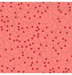 Flower pattern on pink vector