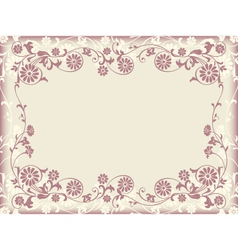 frame floral decorative ornament vector image