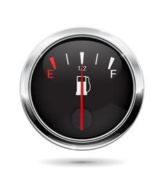 fuel gauge half tank vector image