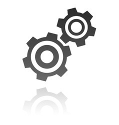 Gear icon industrial concept vector