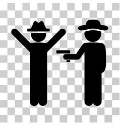 gentleman crime icon vector image