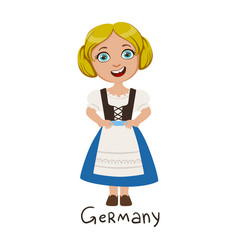 Girl in germany country national clothes wearing vector