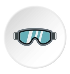 Glasses for snowboarding icon flat style vector image