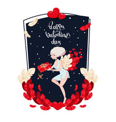 Holiday card to the day of saint valentine with vector