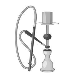 Hookah icon gray monochrome style vector