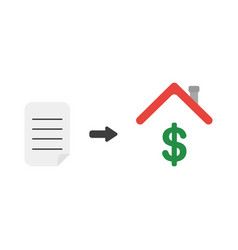 icon concept of written paper with dollar symbol vector image