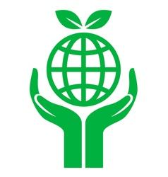 Icon earth care vector