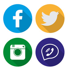icons for social networking in flat vector image