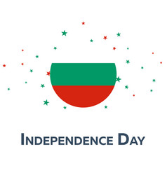 independence day of bulgaria patriotic banner vector image