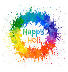 Indian festival happy holi vector