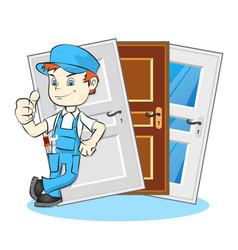 Installation doors master vector