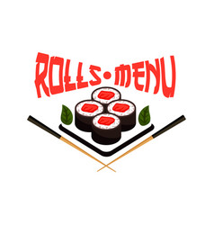 japanese restaurant menu sushi icon vector image