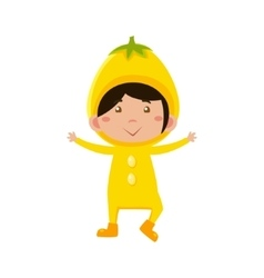 Kid In Lemon Costume vector image
