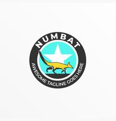 Logo marsupial walking vintage badge vector