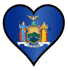 love the big apple vector image