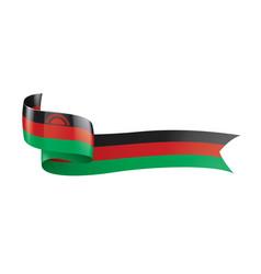 Malawi flag on a white vector