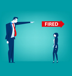 Manager pointing fired at businessman vector