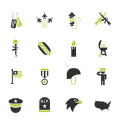 Memorial day icon set vector