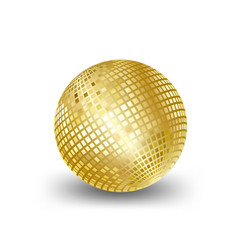 Mirror ball gold elements for artwork greeting vector