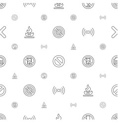 no icons pattern seamless white background vector image