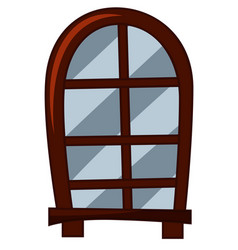 Old fashioned style of window vector
