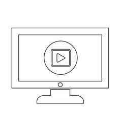 play button tv icon design vector image