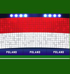 Poland soccer or football stadium flag card stunts vector