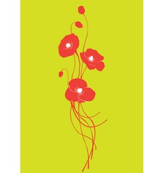 Poppy floral vector