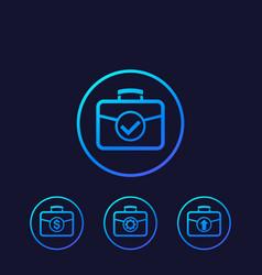 Portfolio icons investment concept vector